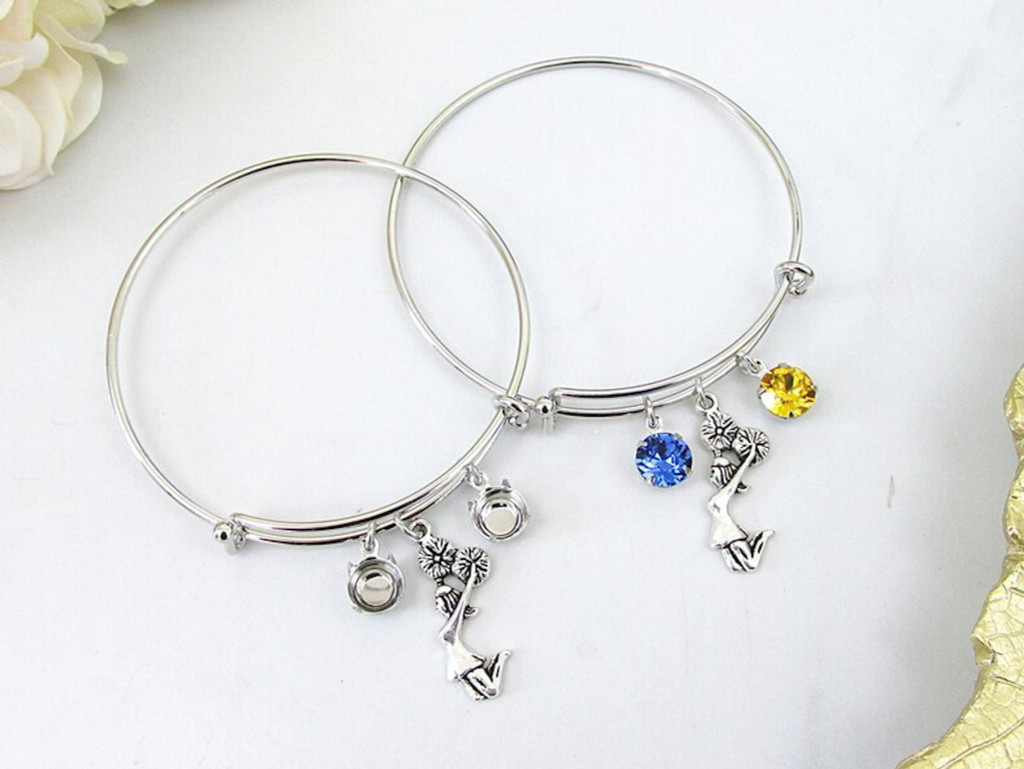 8.5mm | Cheerleader Charm Bangle Bracelet | One Piece