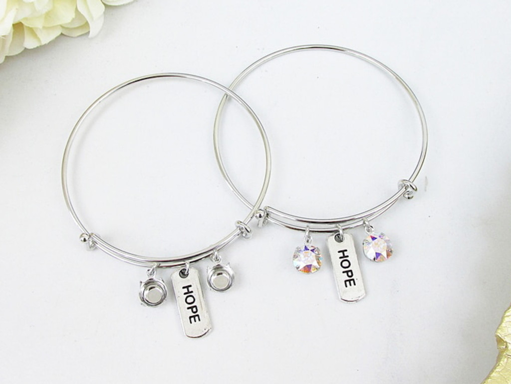 Hope Charm Bangle Bracelet