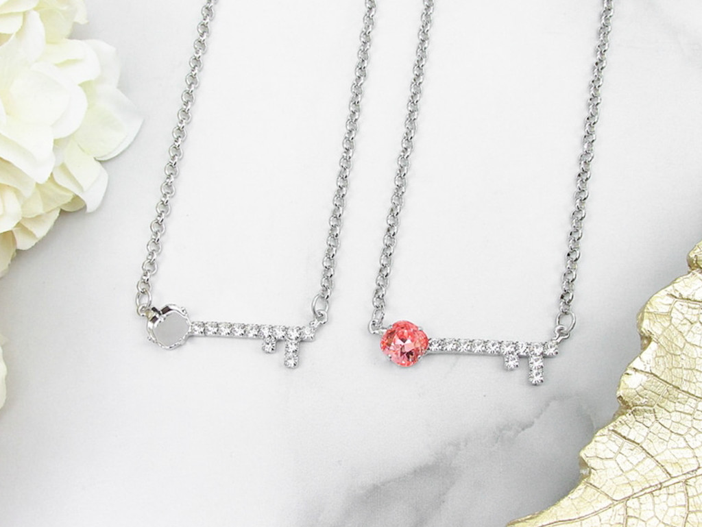 10mm Square   Key To My Heart Necklace   One Piece