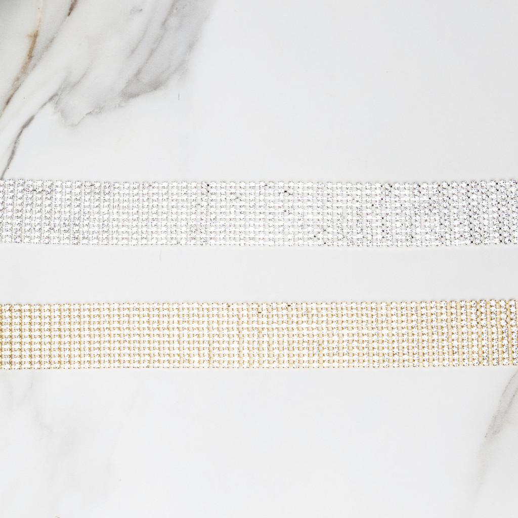 3mm - 4mm | 2 - 10 Row Crystal Rhinestone Chain
