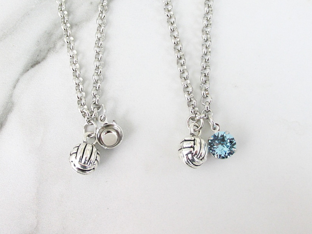 8.5mm | Volleyball Charm Necklace | One Piece