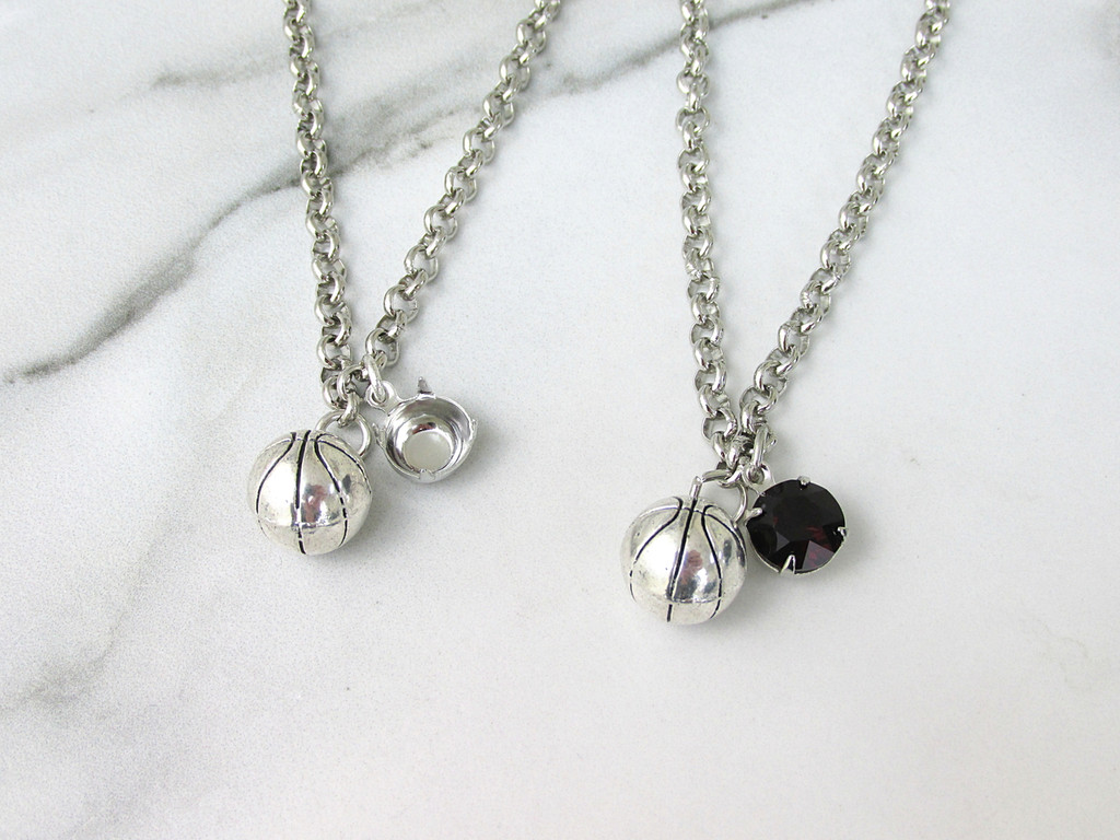 8.5mm   Basketball Charm Necklace   One Piece