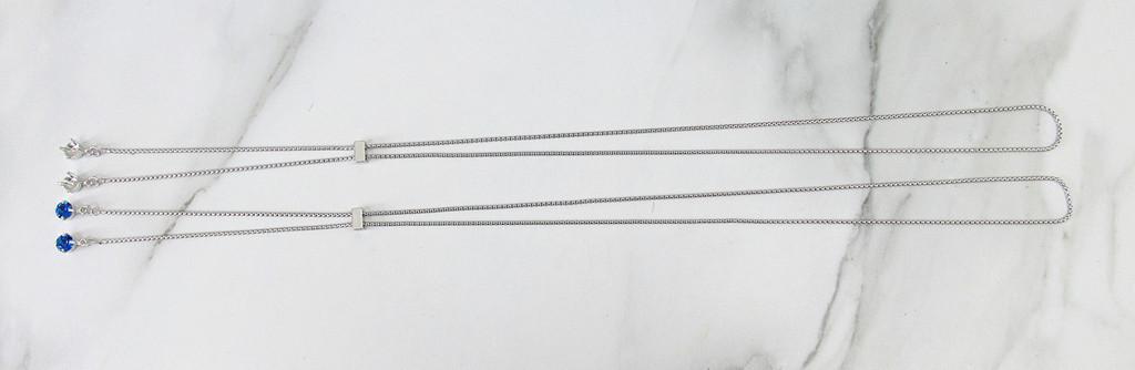 8.5mm | Single Setting Adjustable Slider Necklace | One Piece