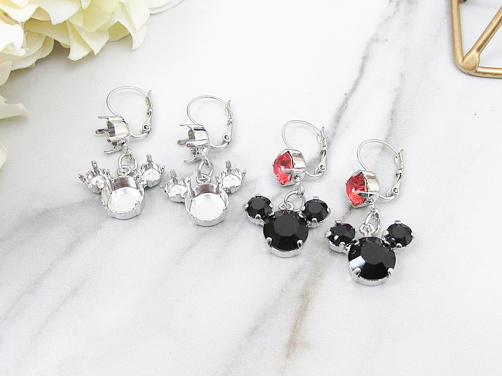 8.5mm, 6mm, & 11mm   Mouse Dangle Earrings view 1