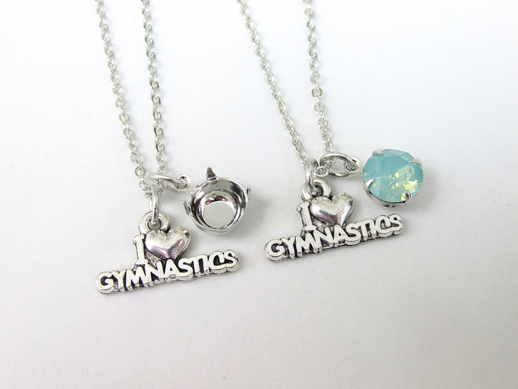 8.5mm | I Love Gymnastics Charm Necklace | One Piece