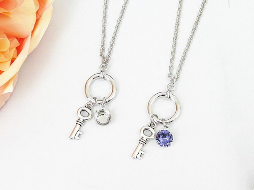 8.5mm | Key Charm Long 30 Inch Necklace | One Piece