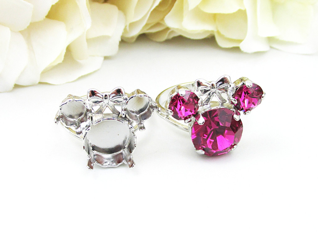 Girl Mouse Classic Band Adjustable Ring