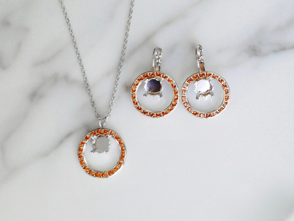 Circle of Hope Jewelry Set made with Swarovski Topaz Crystals