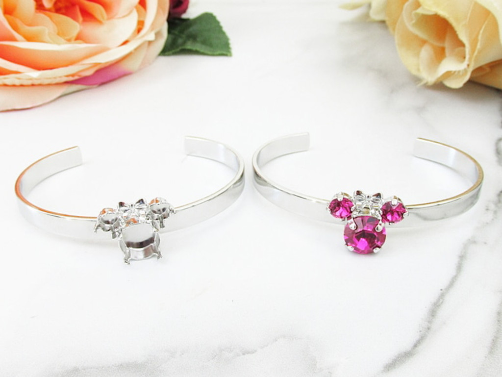 6mm & 11mm | Girl Mouse Cuff Bracelet | One Piece