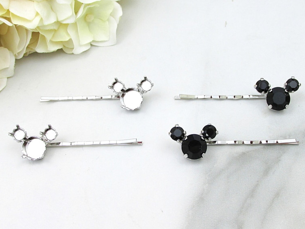 6mm & 11mm | Boy Mouse Bobby Pins | One Pair