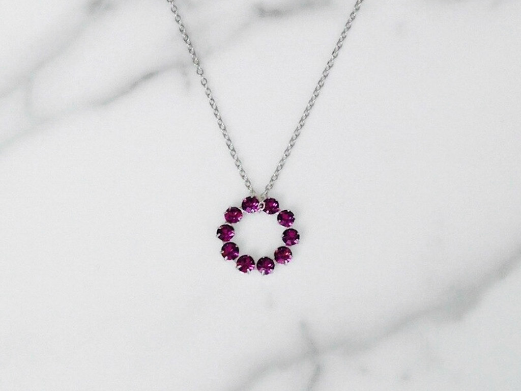 The Unity Necklace made with Swarovski Amethyst Crystals