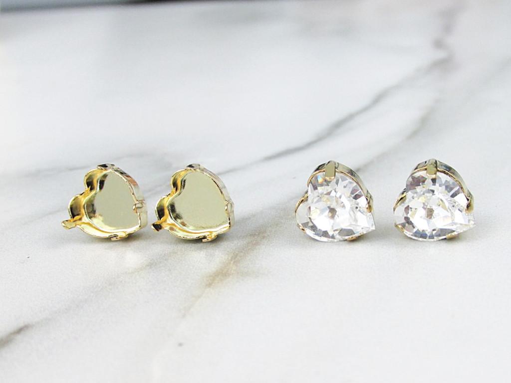 8mm Heart | Classic Stud Earrings | One Pair