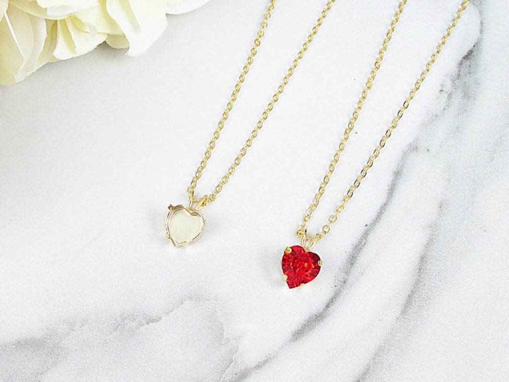 8mm Heart | Single Pendant On Necklace Chain | One Piece