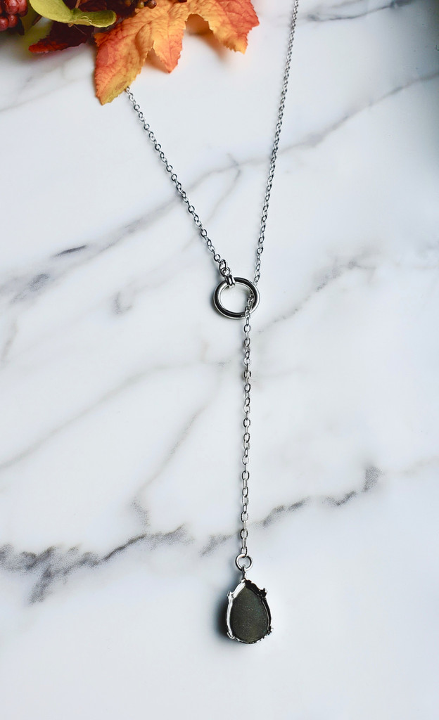 18mm x 13mm Pear   Loop Through Necklace
