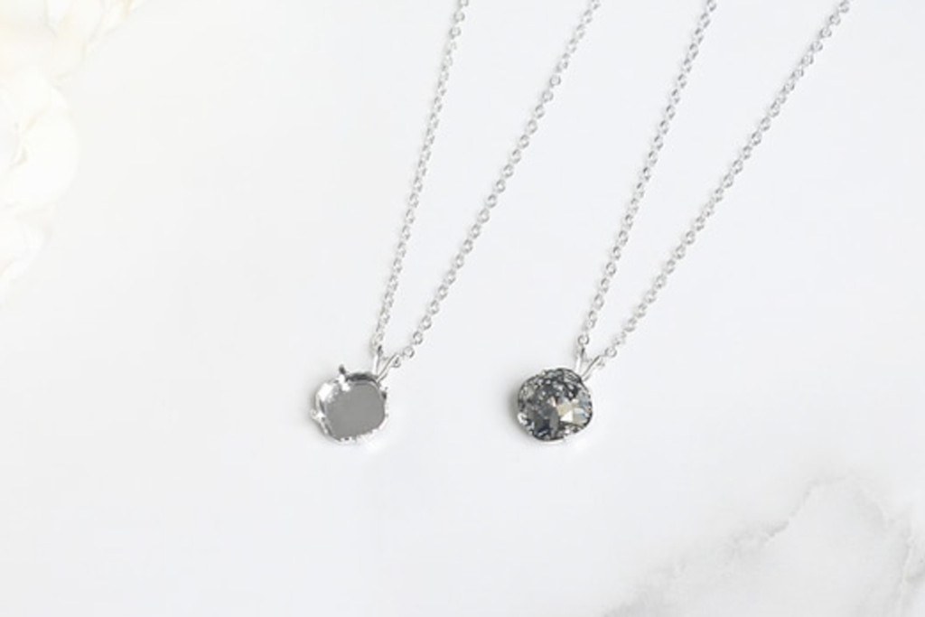 10mm Square | Single Pendant On Necklace Chain | One Piece