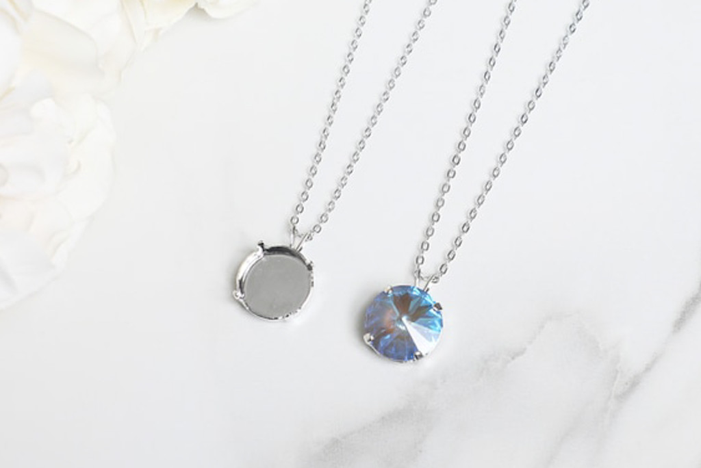 14mm Round | Single Pendant On Necklace Chain | One Piece