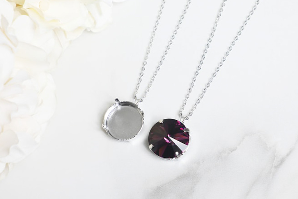 18mm Round | Single Pendant On Necklace Chain | One Piece