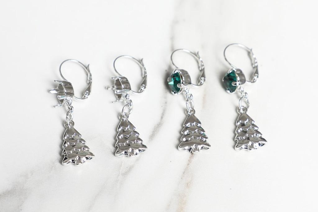 8.5mm   Christmas Tree Drop Earrings   One Pair