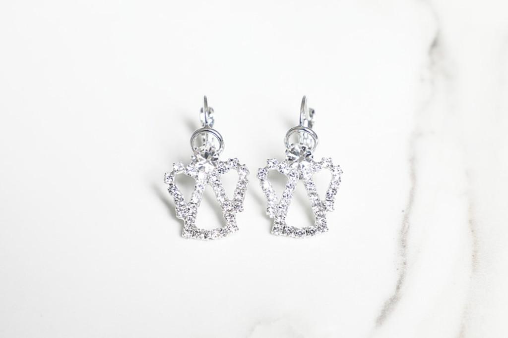 Angel Crystal Rhinestone Earrings