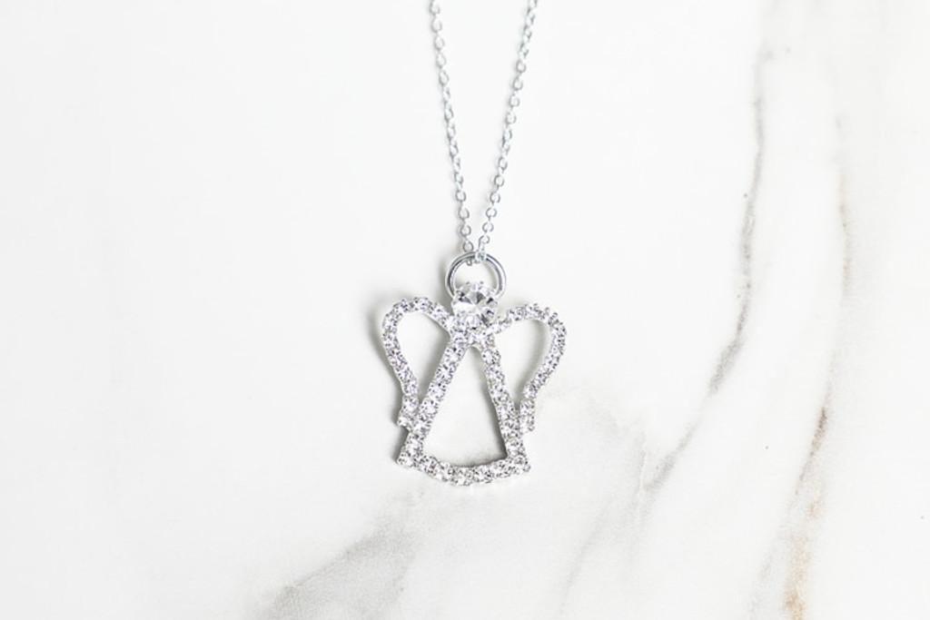 Angel Crystal Rhinestone Necklace | One Piece