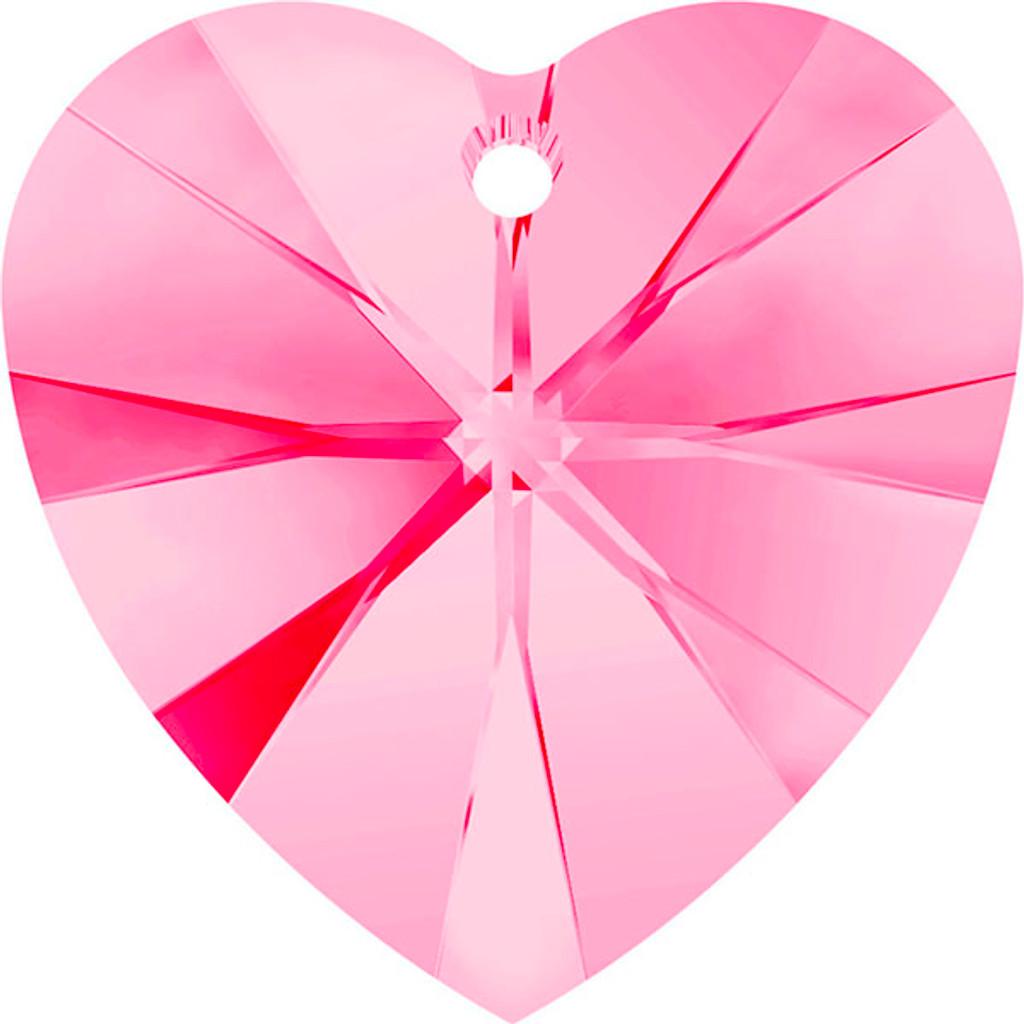 Heart Pendant Swarovski Article 6202 Indian Pink