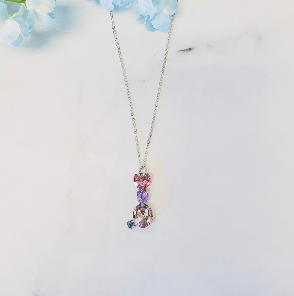 Easter Bunny Necklace made with Swarovski Crystals