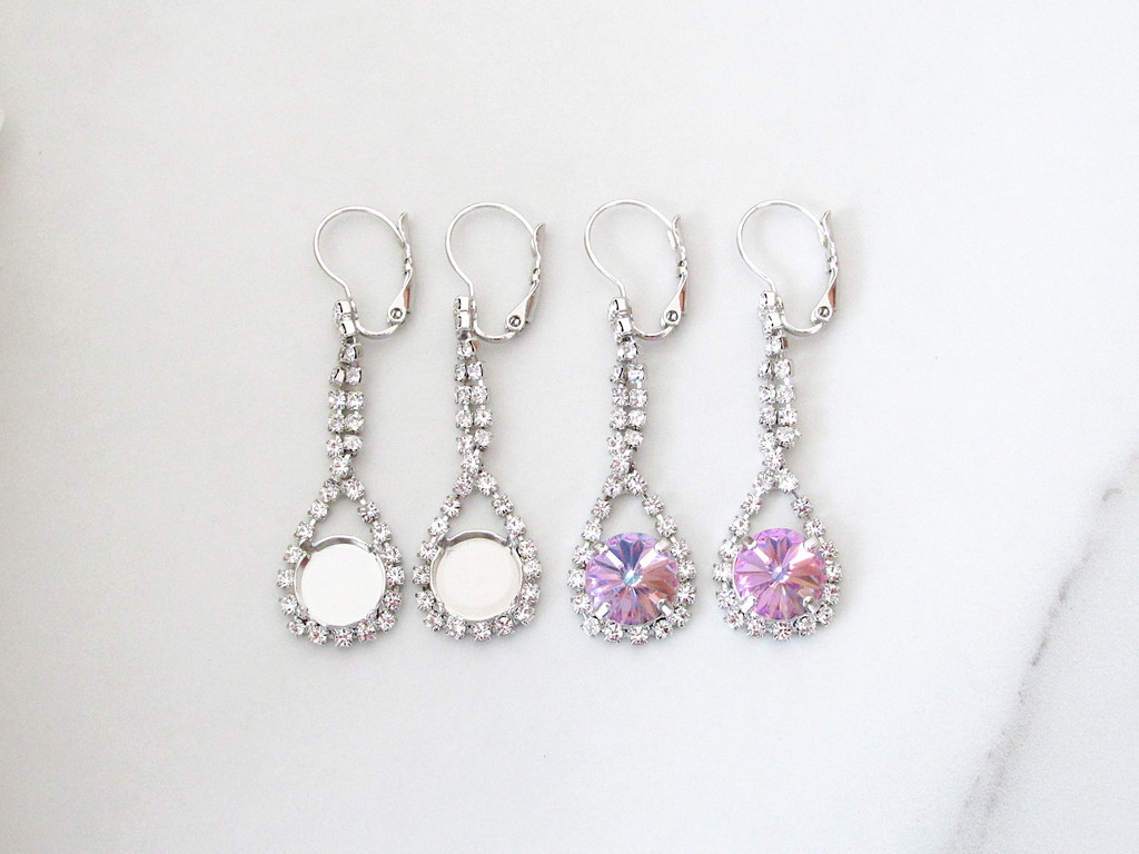 11mm   LOW PROFILE Enchanted Lever Back Earrings   One Pair