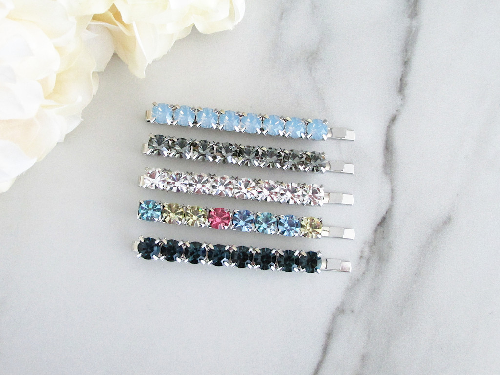 6mm | Crystal Bobby Pin | One Piece - Choose Crystal Color