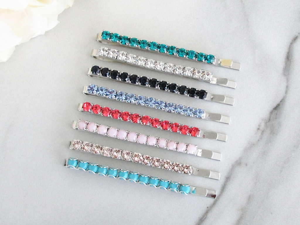 4mm | Crystal Bobby Pin | One Piece - Choose Crystal Color