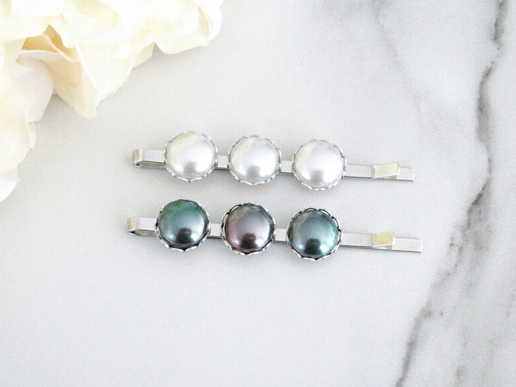 11mm | Glass Pearl Bobby Pin | One Piece