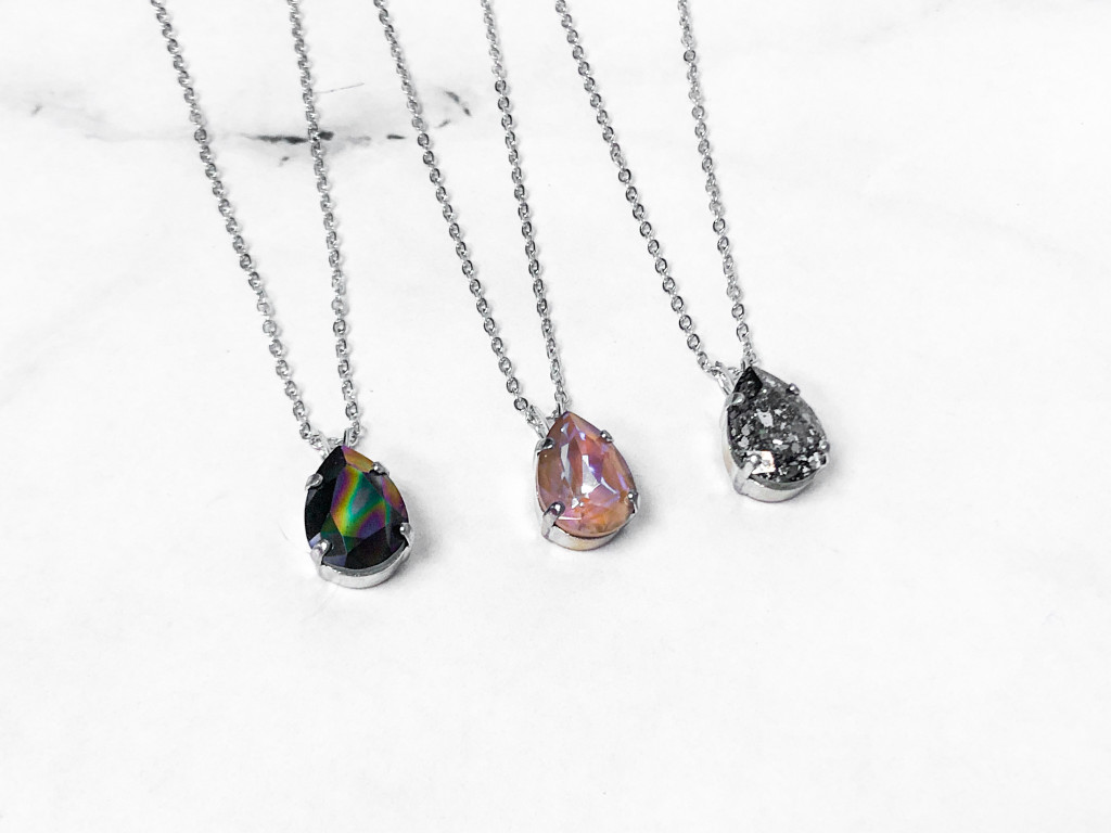 3 Pieces | 14x10mm Pear Necklaces | Finished