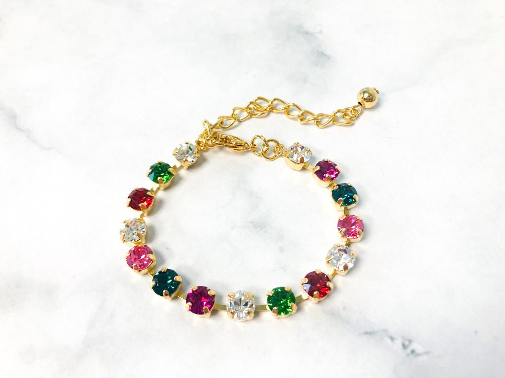Rose Garden Bracelet made with 6mm Swarovski Crystals
