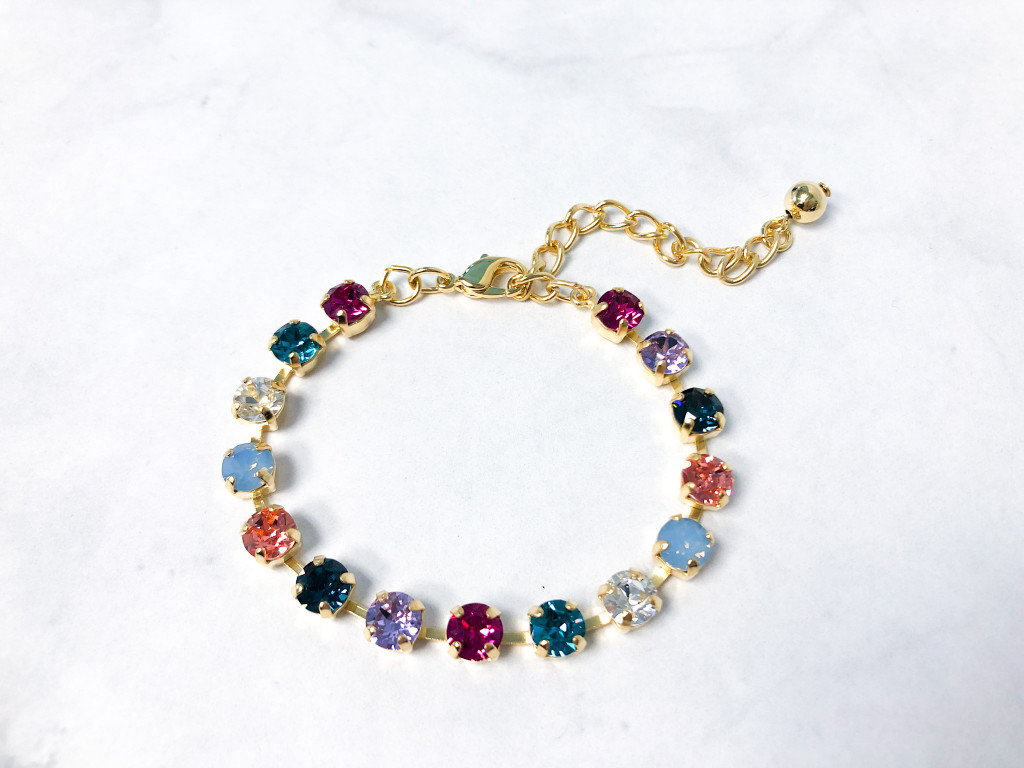 Look at Her Now Bracelet made with 6mm Swarovski Crystals