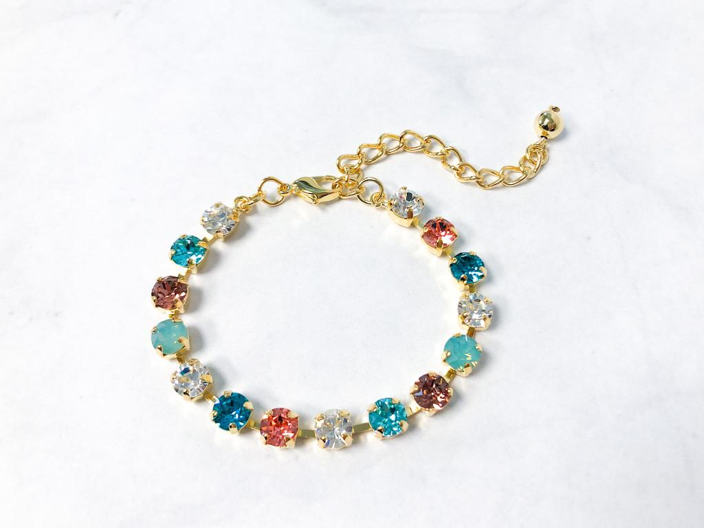 Cayman Bracelet made with 6mm Swarovski Crystals   Ready to Wear