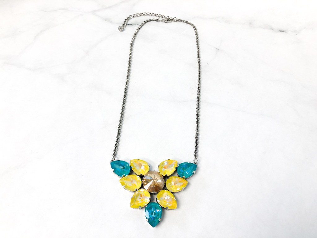 Sunflower DeLite Necklace made with Swarovski Crystals