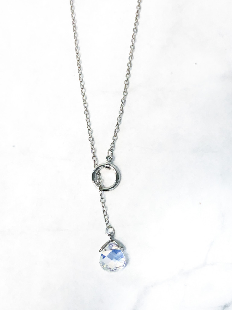 Briolette Loop Through Necklace made with Swarovski Crystal