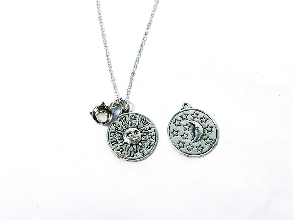 Zodiac Necklace with Empty 8.5mm