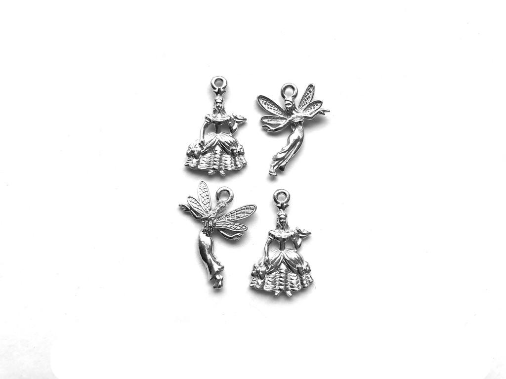 Fairy Princess Charm Bundle 4 Pieces Per Pack