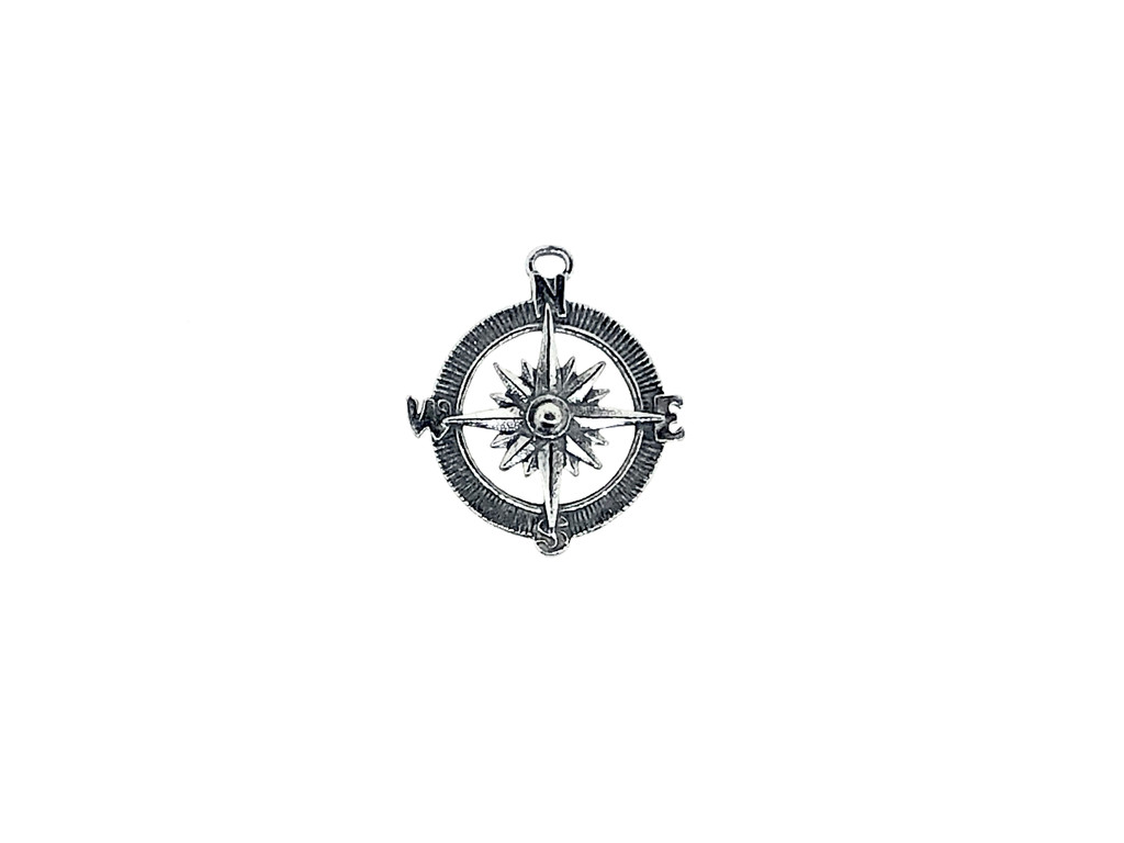 Compass Charm 5 Pieces Per Pack