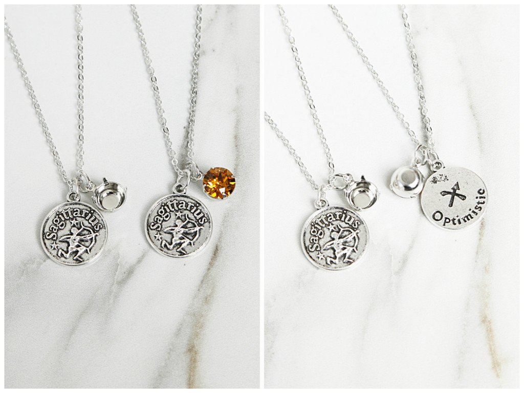 Zodiac Necklace Bundle made with Swarovski Crystals - Ready to Wear