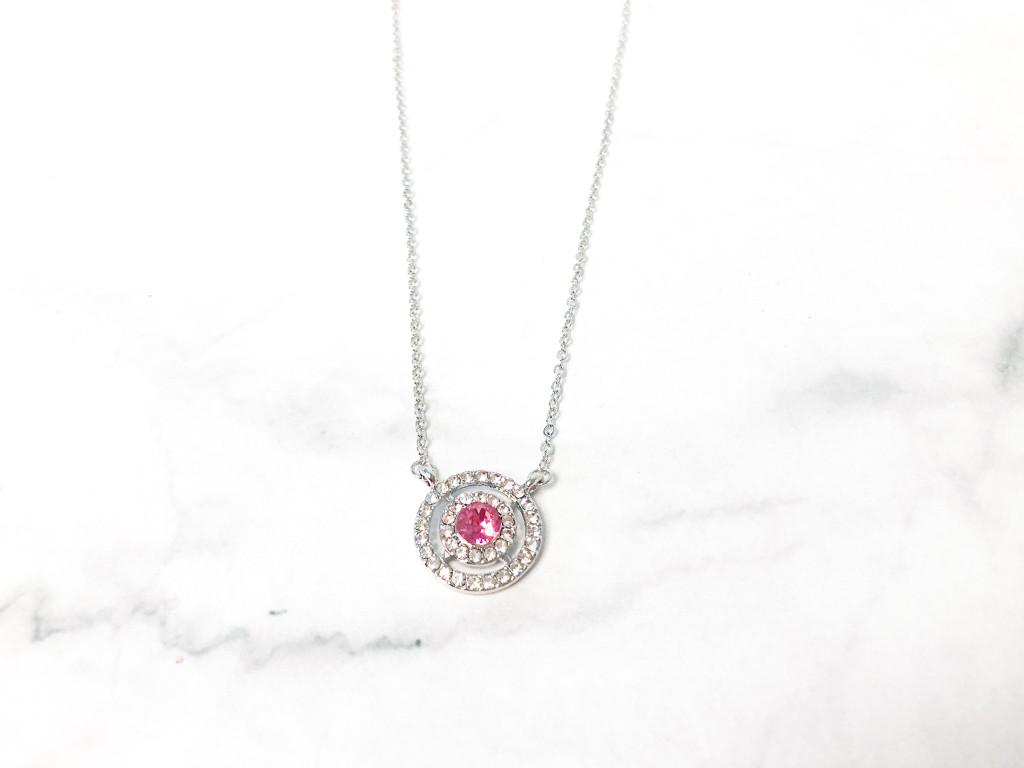 Rose Necklace made with Swarovski Crystal