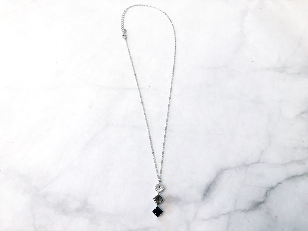 Gradient Crystal Cushion Cut Necklace made with Swarovski Crystals