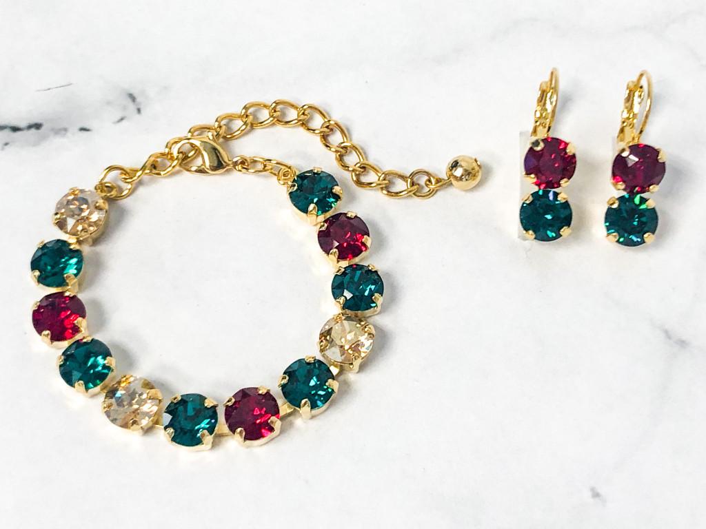 Mistletoe Bracelet and Earring Set