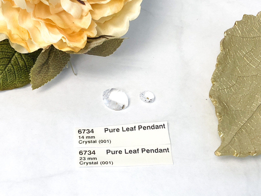 Swarovski Pure Leaf Pendant 2 Pieces