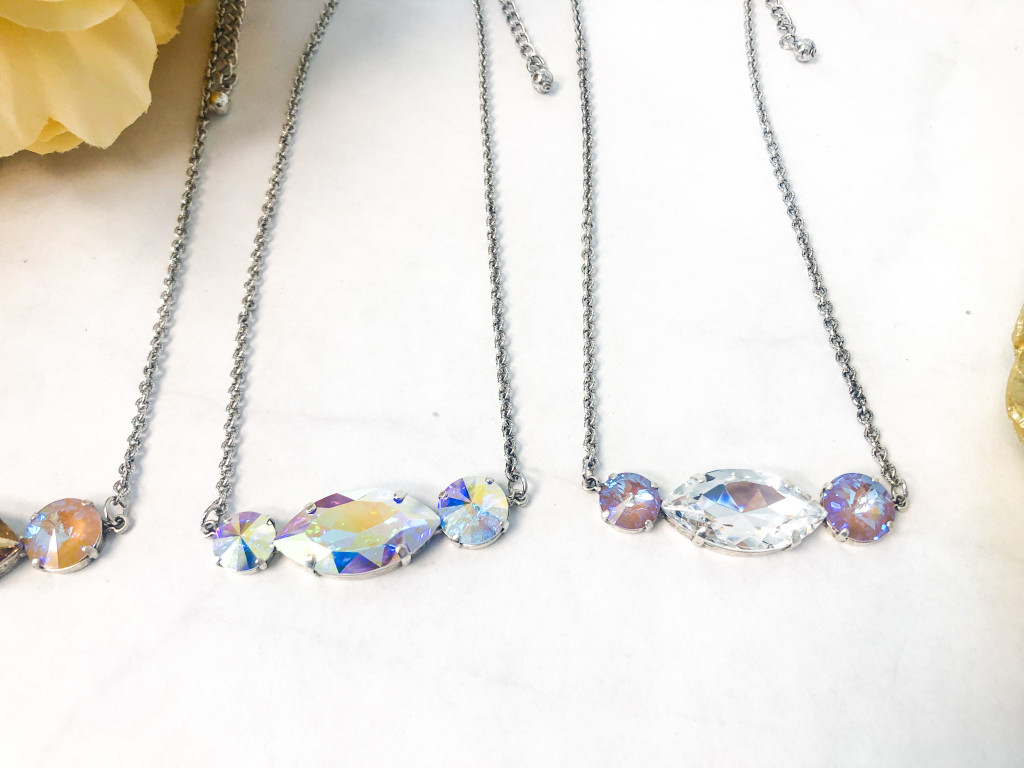 3 Necklaces made with Swarovski Crystals - view 1
