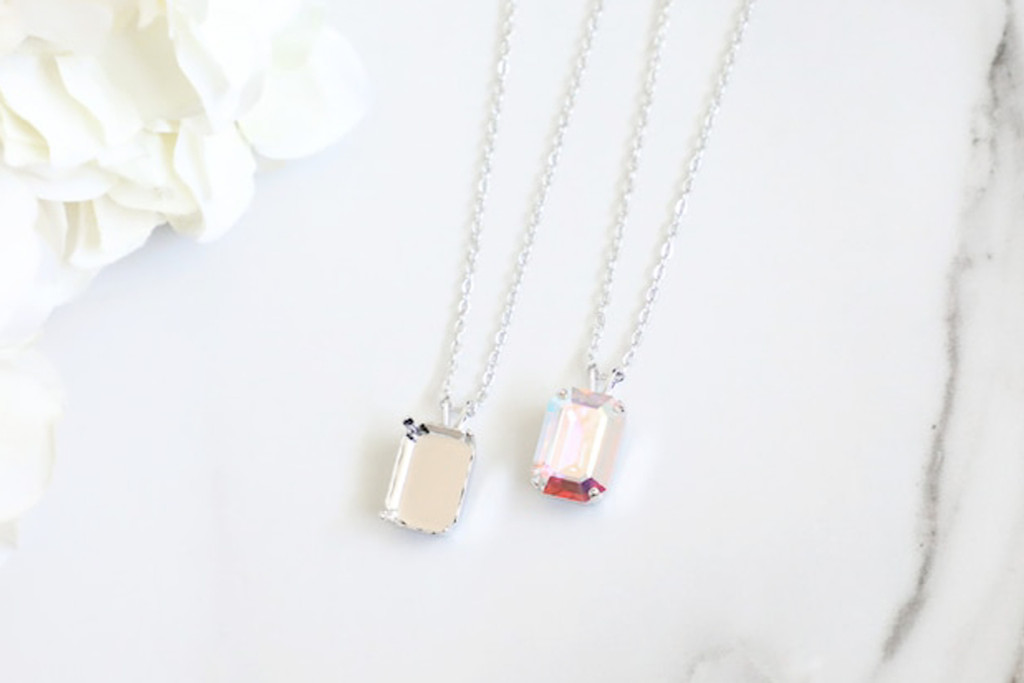 14mm x 10mm Octagon | Single Pendant On Necklace Chain | One Piece
