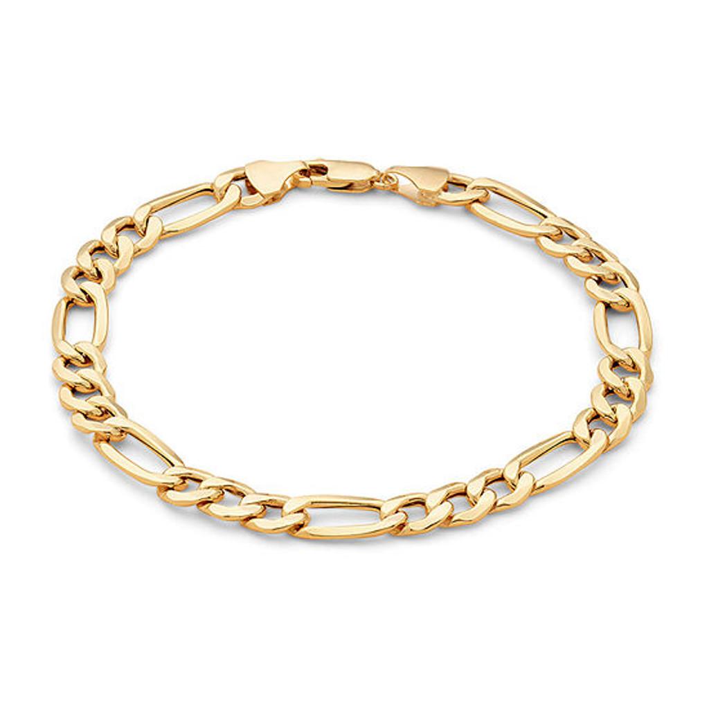 Figaro Bracelet | Rhodium or Gold