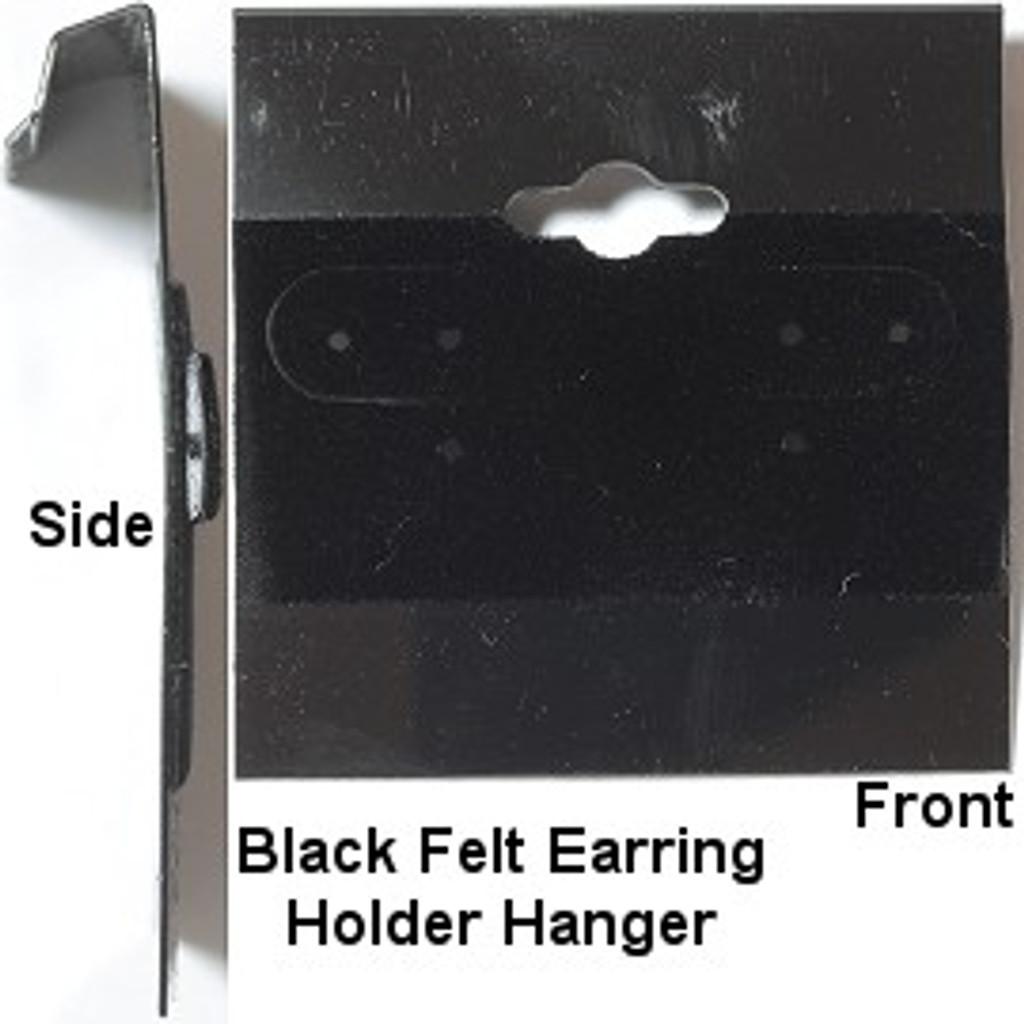 Earring Holder Hanger Black Velour | 1 Piece