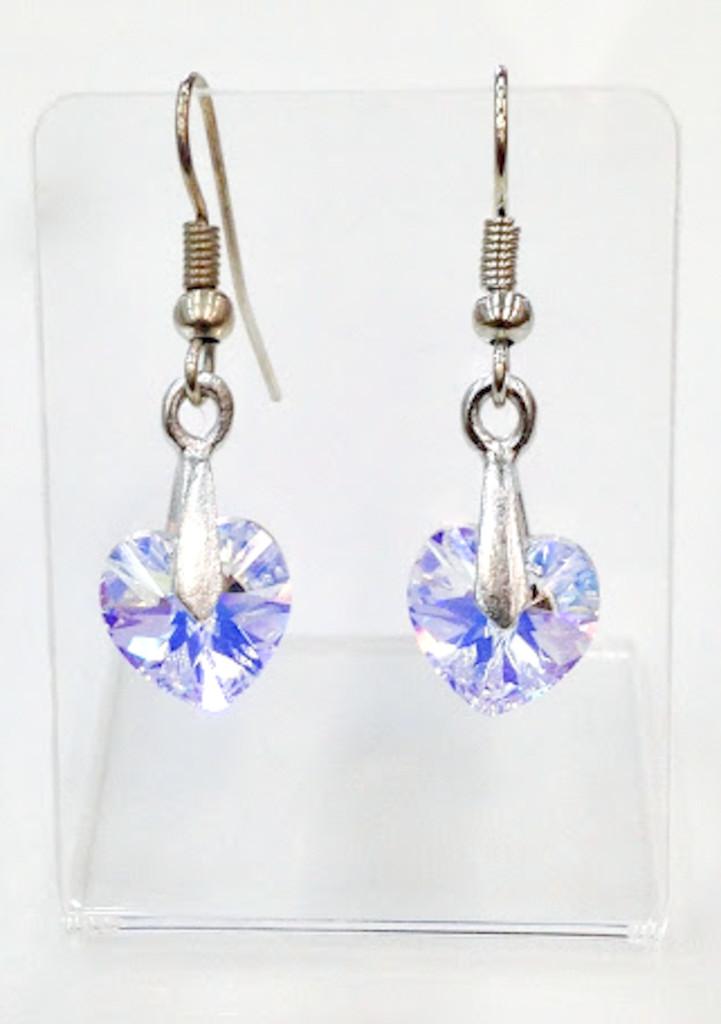 Allura Heart Earrings made with Swarovski Crystals
