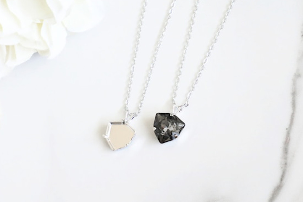 12mm Trilliant | Single Pendant On Necklace Chain | One Piece